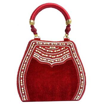 Craftstages Velvet Red Ethnic Purse