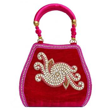 Craftstages Velvet Pink Ethnic Purse