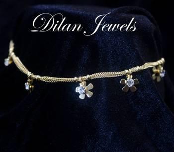 Gold Floral Anklets