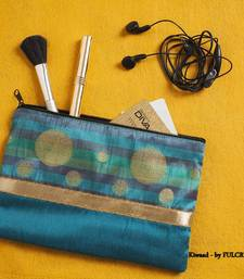 Buy Diwali corporate gifts Silk Pouch - Teal  potli-bag online