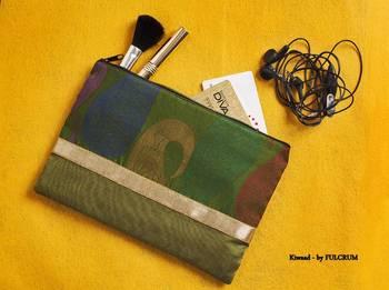 Silk Pouch - Green