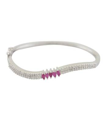 Simple Pink Surprise CZ Bangle