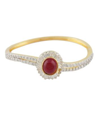 Red Sun CZ Studded Bangle
