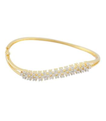 Slender Multi-Studded CZ Bangle