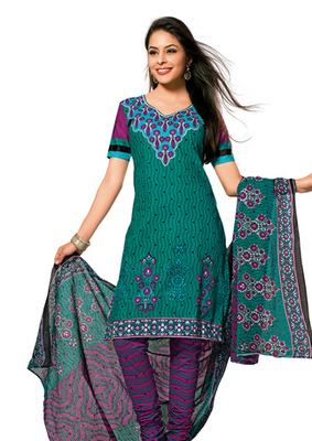 Hypnotex Cotton Blue Dress Materials  Disha 1024