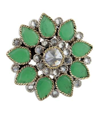 Majestic Green Ethnic Ring