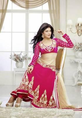 Jacqueline fernandez Majesty Dark Pink Embroidery Salwar Kameez