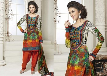 Hypnotex Cotton Multi Color Dress Materials  Bazzar 7355B