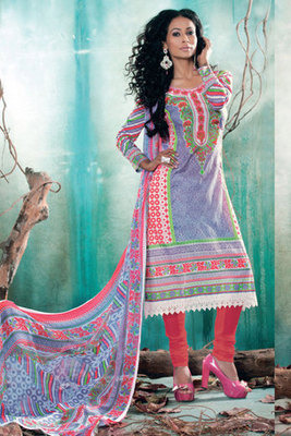 Rose Pink Pure Georgette Salwar Suit Showing Resham Embroidery and Stone work