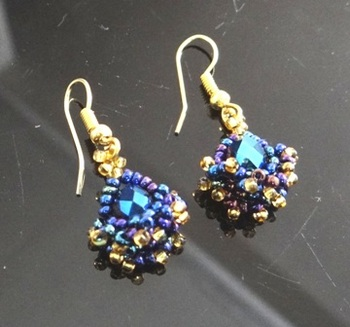 Blue Lights- Earrings