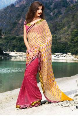 Pink Multi Georgette Saree SC898B