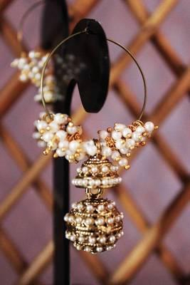 Classic Pearl Beads Jhumka