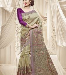 Buy Multi Printed Silk saree With Blouse silk-saree online