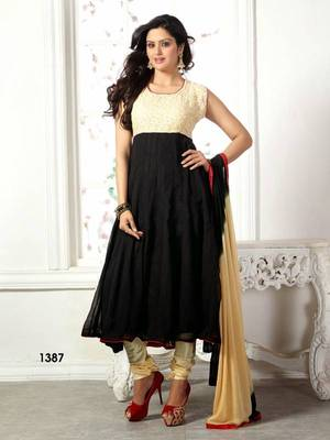 Designer Black Georgette Anarkali