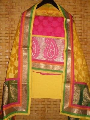Embroidered dress material ::Salwar kameez