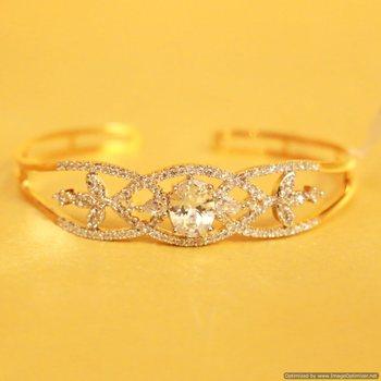Diamond Look Cuff Bracelet 2.2 , 2.4
