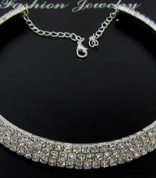 Lovely stone silver kada necklace