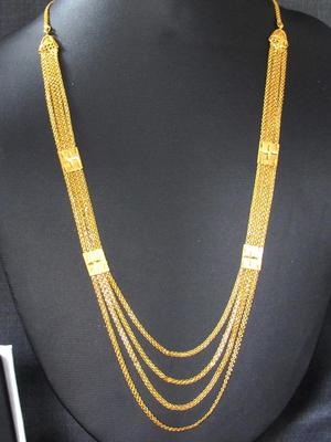 Golden four line Necklace
