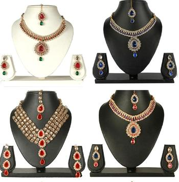 Combo Offer of four multi colour necklace set