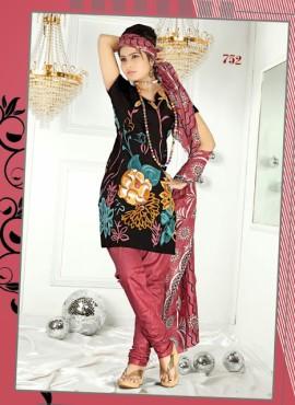 Digital Cotton Printed Designer Black Salwar Kameez
