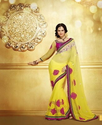 Zoom Fabric Chiffon Saree 6803