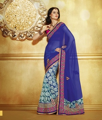 Zoom Fabric Chiffon Saree 6809