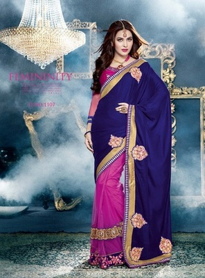 Zoom Fabric Chiffon Saree 6819