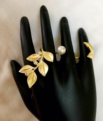 Three finger ring for women