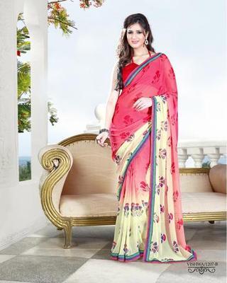 Zoom Fabric gerogette Saree 6912
