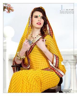 Zoom Fabric gerogette Saree 6920