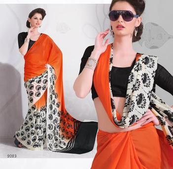Zoom Fabric Crape Saree 7062