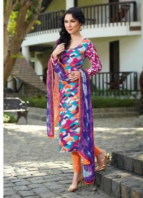 Satin cotton  multi Salwar Kameez Dress Material SC8279