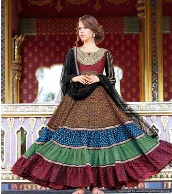Cotton Jaquard Anarkali SC3013