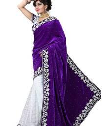 Buy purple brasso brasso saree With Blouse brasso-saree online