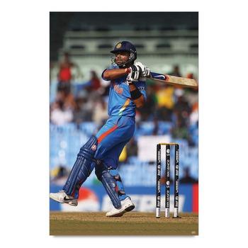 Virat Kohli In Action Poster