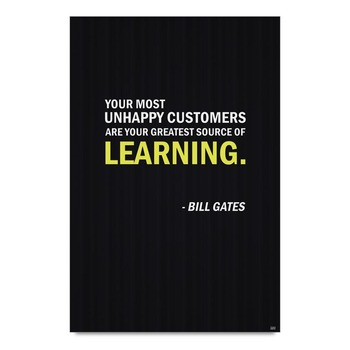 Learning Quote By Bill Gates Poster