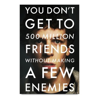 Social Network Quote By Mark Zuckerberg Poster