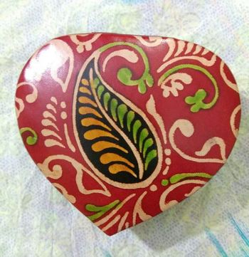 LEATHER PRINTED HEART SHAPE jewelry box cosmetic box gift box for jewelry case