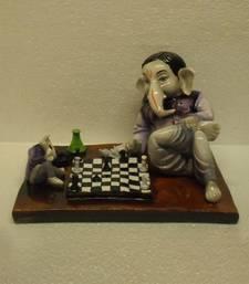 Ganesha Playing Chess Game