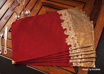 Table mat - Maroon