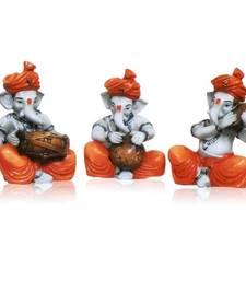 Set of 3 Instrumental Ganesha Idols
