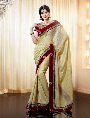 Designer Party Wear Heavy work Saree With Blouse