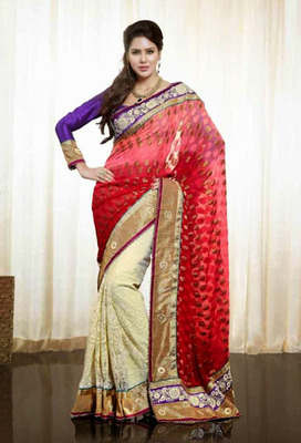 Designer Party Wear Heavy work Saree With Blouse.
