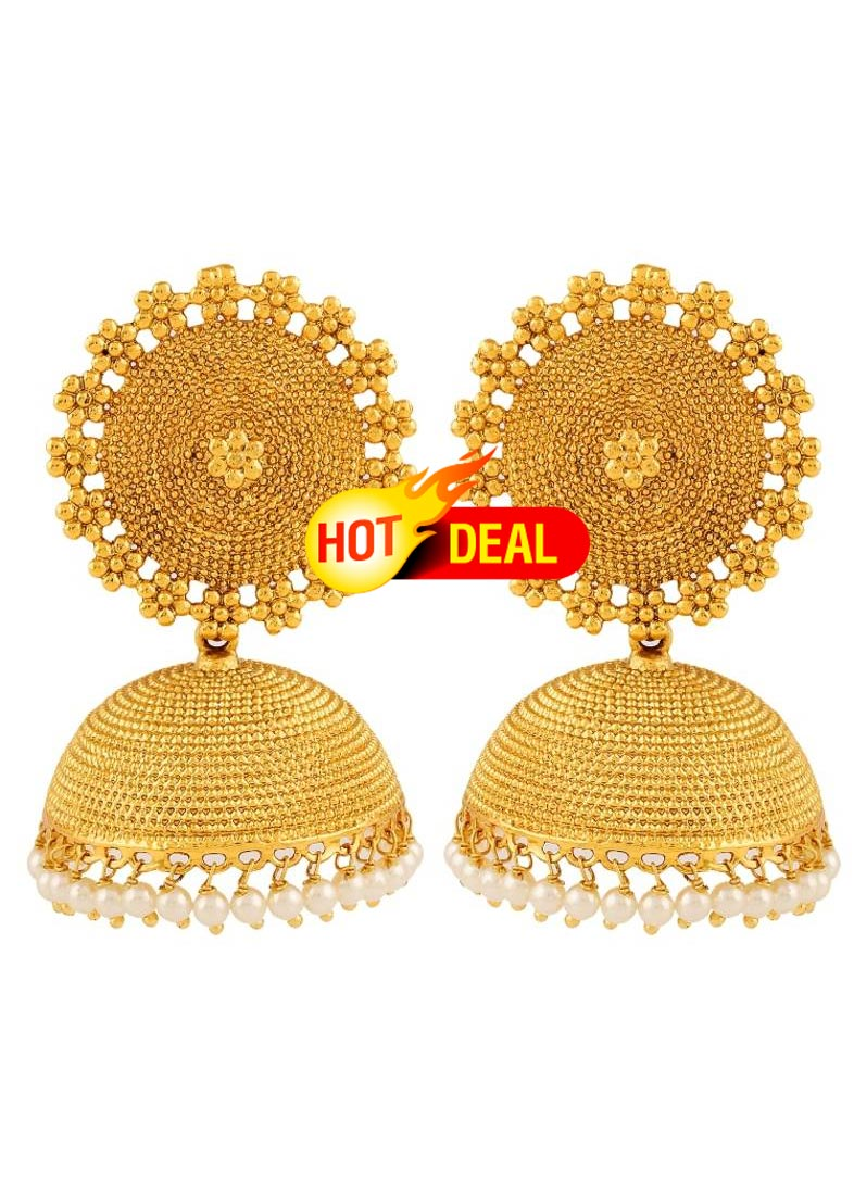 Adwitiya Collection 24k Gold Plated Designer Jhumki Earring For Women Online