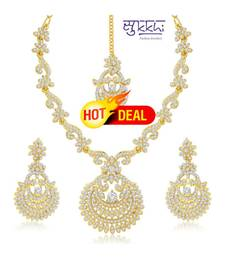 Sukkhi Incredible Gold Plated Australian Diamond Stone Studded Necklace Set(2040NADK1500)