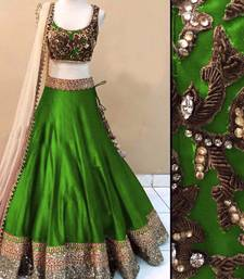 Buy Designer green color Embroidered Fancy salvar suit ghagra-choli online
