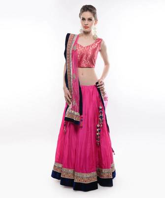 88078dd385dced PINK   BLUE LEHENGA- by Abhilasha   Abhishek - Purple Oyster marketing  private limited - 175174
