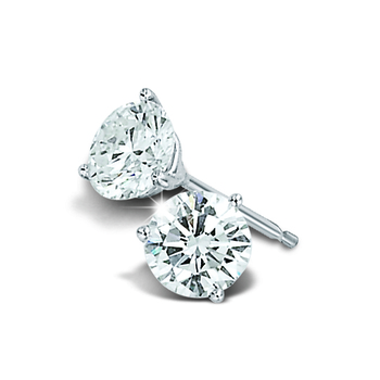 Cara sterling silver and certified Swarovski stone studded Simple Stud earring for women