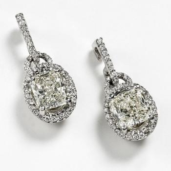 Cara Lock my Heart Swarovski stone in sterling Silver earrings for Women
