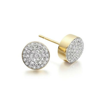Cara Round and Round Swarovski Stone in sterling Silver earrings for Women